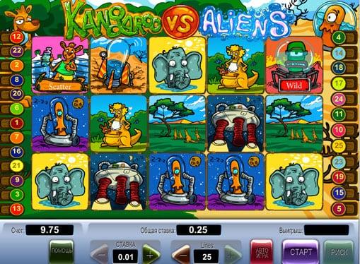Символы игрового автомата Kangaroo vs Aliens