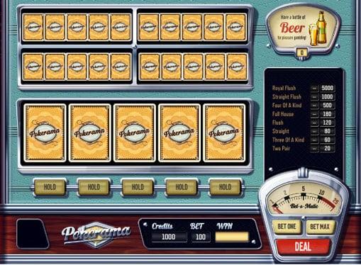 Игровой онлайн аппарат Pokerama