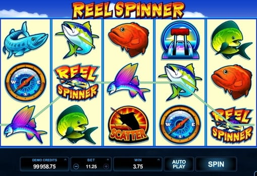 Выигрышная комбинация символов в аппарате Reel Spinner