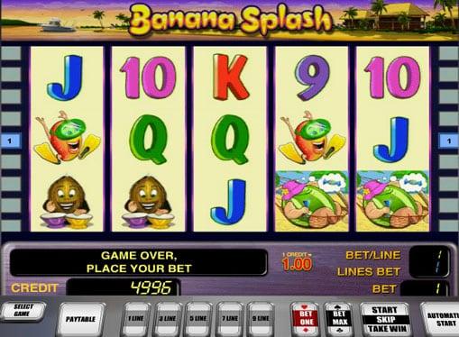 Символы игрового автомата Banana Splash