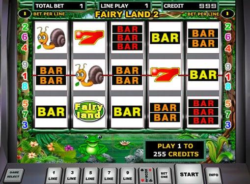 Выигрышная комбинация на аппарате Fairy Land 2