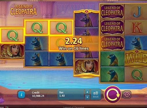 Выигрышная комбинация на линии в автомате Legend of Cleopatra