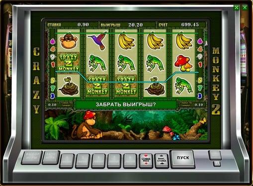 Выигрышные комбинации символов в автомате Crazy Monkey 2