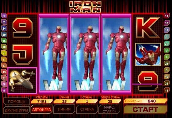 Символы игрового автомата Iron Man