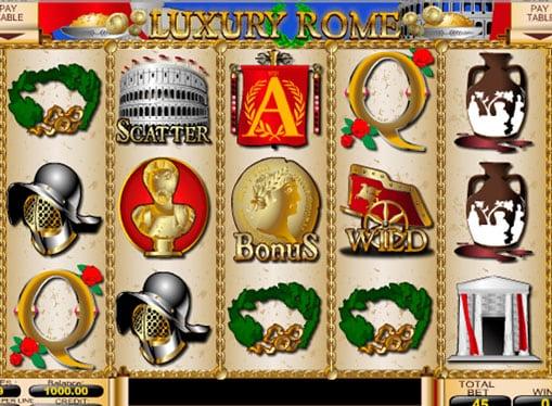 Бонусы и дикие символы игрового аппарата Luxury Rome