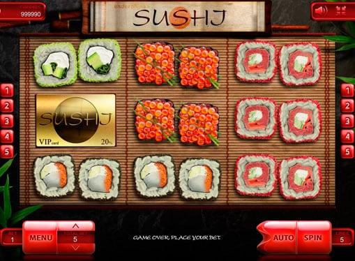 Символы игрового автомата Sushi