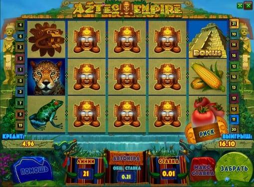 Символы игрового автомата Aztec Empire