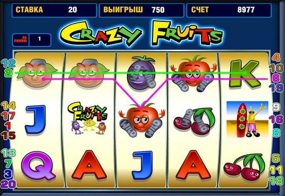 Crazy fruit игровые автоматы онлайн бизнес игровые аппараты