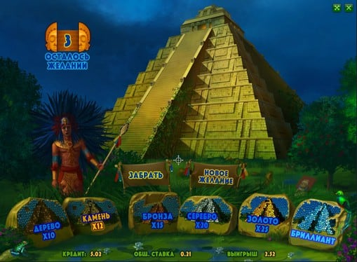 Бонус игра в автомате Aztec Empire