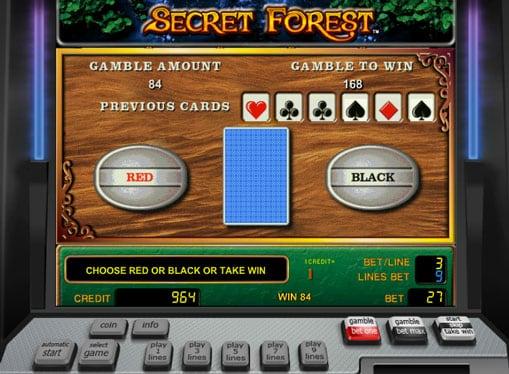 Риск игра в онлайн автомате Secret Forest