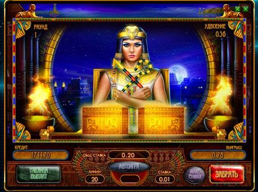 Риск игра в игровом автомате Сокровища Клеопатры