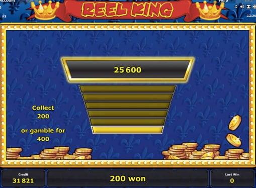 Игра на удвоение в слота Reel King