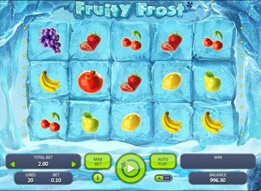 Символы игрового автомата Fruity Frost