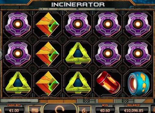 Символы игрового аппарата Incinerator