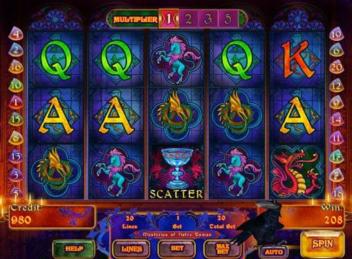Символы игрового онлайн автомата Mysteries of Notre Dames