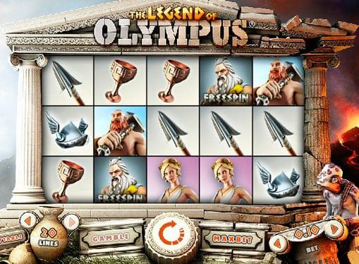 Комбинация с выпадением фрисипинов в аппарате Legend of Olympus