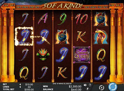 Призовая комбинация в игровом автомате Sahara Queen