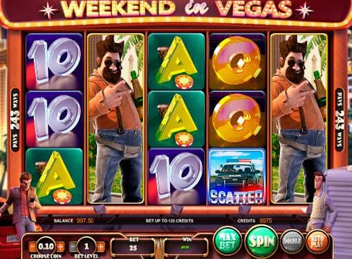 Символы онлайн игрового автомата Weekend in Vegas
