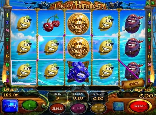 Комбинация символов в автомате Lucky Pirates