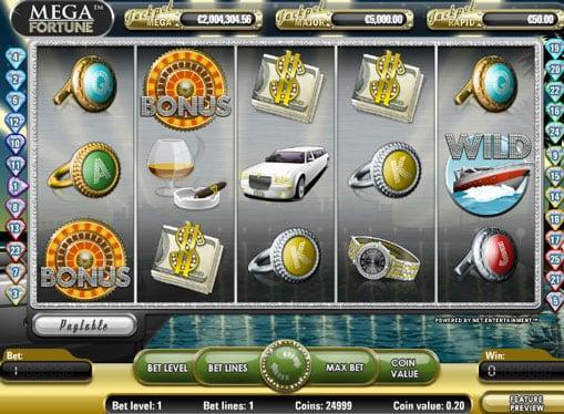 Символы игрового автомата Mega Fortune