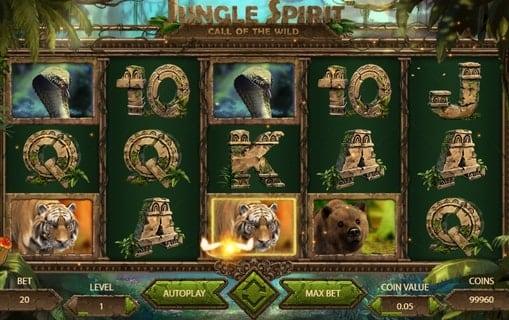 Выигрышная комбинация в слоте Jungle Spirit: Call of the Wild