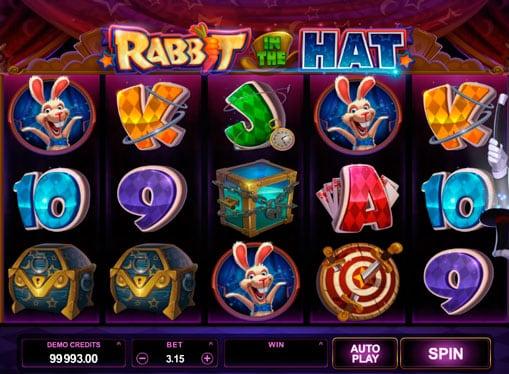 Символы игрового автомата Rabbit in the Hat