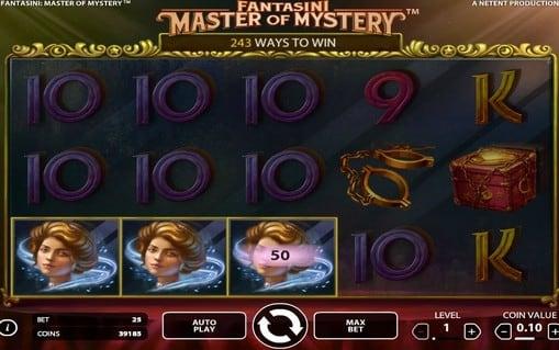 Выигрышная комбинация в игровом автомате Fantasini: Master of Mystery