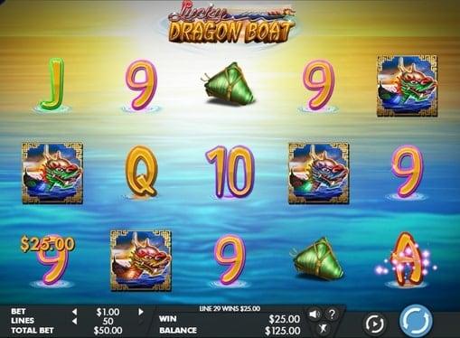 Выигрыш в онлайн автомате Lucky Dragon Boat
