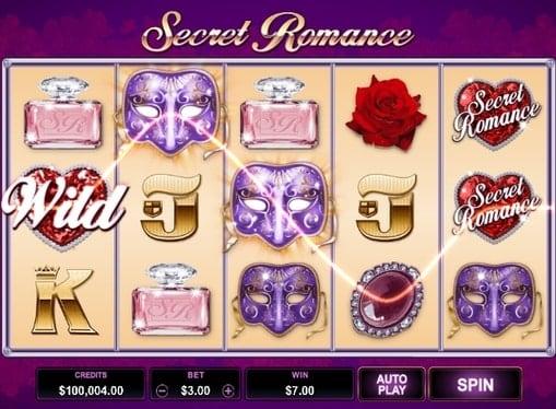 Выигрышная комбинация в игровом автомате Secret Romance