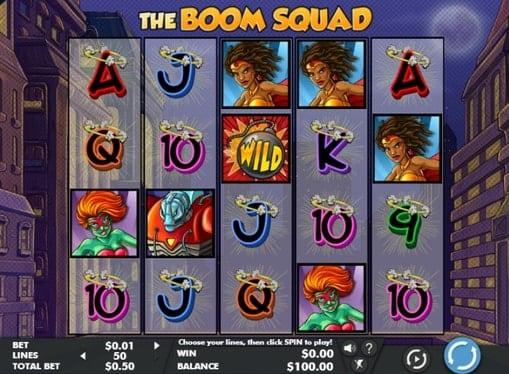 Выигрышная комбинация онлайн аппарата The Boom Squad