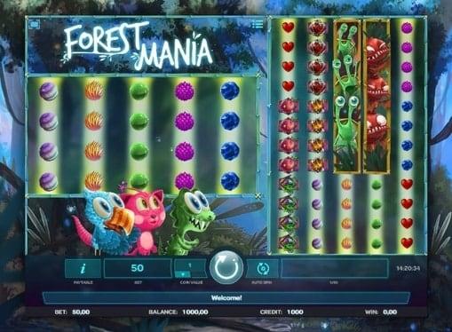 Бонусная игра в онлайн автомате Forest Mania