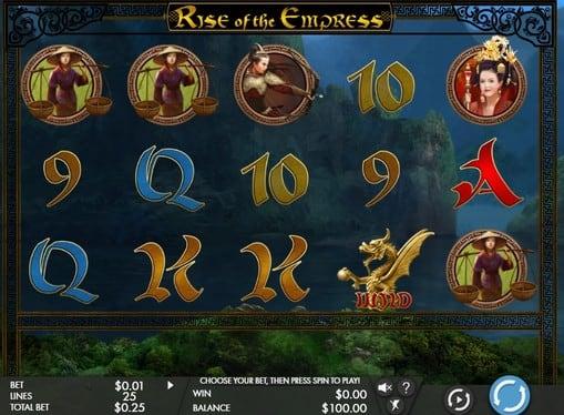 Символы игрового аппарата Rise of the Empress