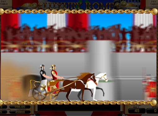Бонусная игра слота Luxury Rome