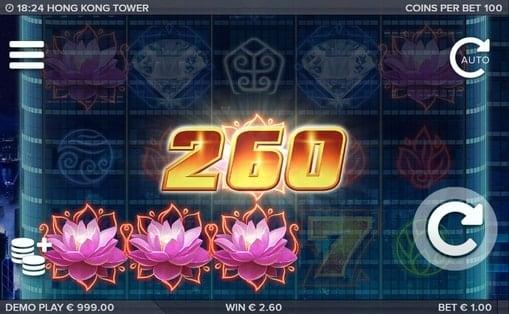 Выигрышная комбинация в онлайн аппарате Hong Kong Tower
