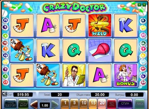 Символы игрового автомата Crazy Doctor