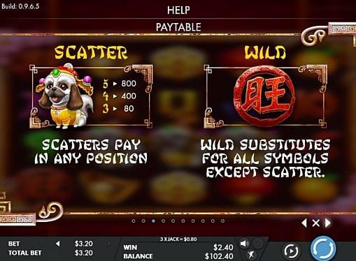 Wild и Scatter в онлайн слоте Year of the Dog