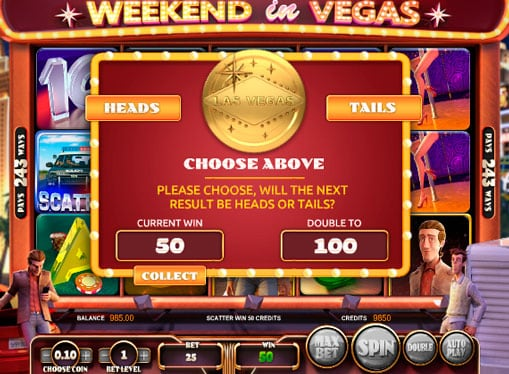 Бонус игра в аппарате Weekend in Vegas