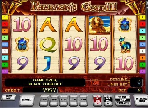 Символы игрового автомата Pharaoh's Gold III