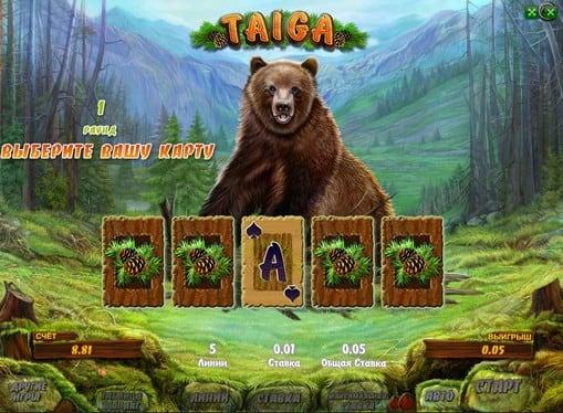 Риск игра на аппарате Taiga