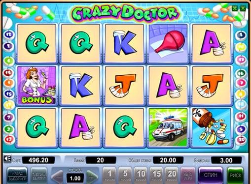 Бонусы аппарата Crazy Doctor
