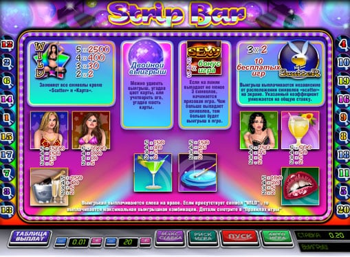 игровой автомат стрип бар
