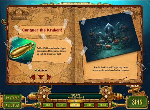 Игровой бонус в слоте Eye of the Kraken