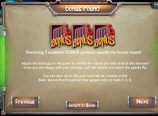 Бонусная игра в слоте Frankenslot's Monster