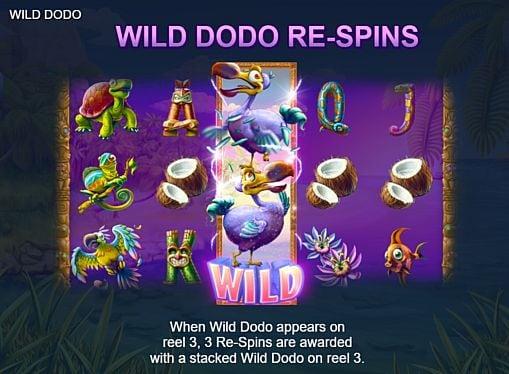 Дикий знак в слоте Wild Dodo