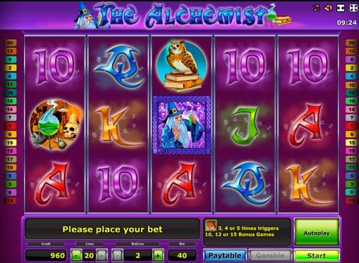 Выигрышная комбинация в слоте The Alchemist