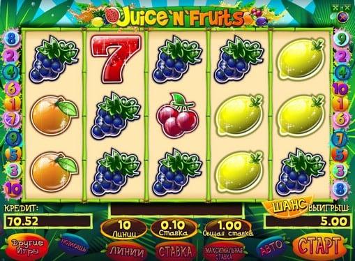 Символы игрового автомата Juice and Fruits