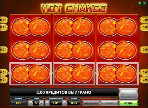 Выпадение бонуса Горячий шансHot Chance
