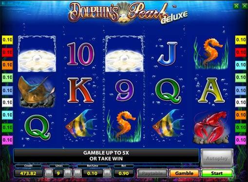 Выигрыш в Dolphins Pearl Deluxe